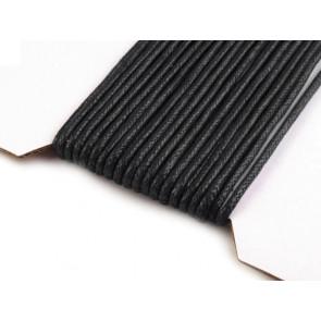 bombažna vrvica črne barve, 2 mm, dolžina: 10 m