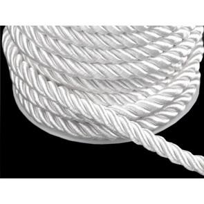 prepletena vrvica, 7 mm, bela b., 1 m