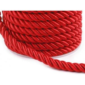 prepletena vrvica, 7 mm, rdeča b., 1 m