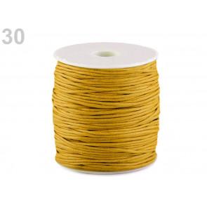 bombažna vrvica 1,5 mm, rumena, povoščena, 85 m