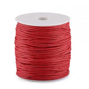 bombažna vrvica 1,5 mm, rdeča, povoščena, 85 m