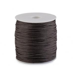 bombažna vrvica 1,5 mm, temno rjava, povoščena, 85 m