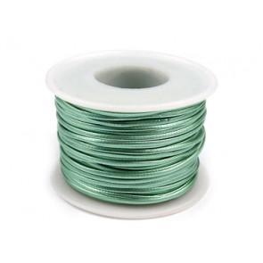 EKO usnjena vrvica 1,5 mm, pastelno zelena, 1 m