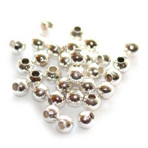 kovinske perle 2 mm, srebrne barve, 500 kos