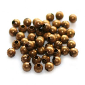 kovinske perle 2 mm, antik, 50 kos