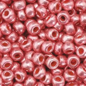EFCO steklene perle 3,5 mm, svetlo rožnate, kovinske barve, 17 g