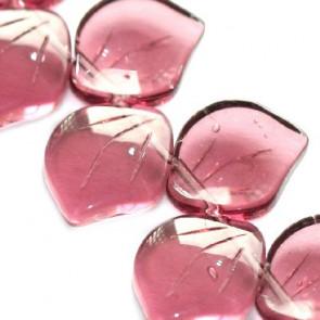steklene perle - list 14 mm, vijola, 1 kos