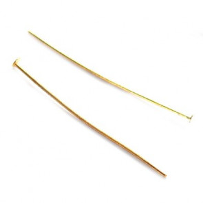 igla za perle 3,8 cm, zlate barve, 50 kos