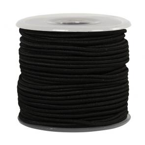 elastična vrvica, 2 mm, črna, 1 m