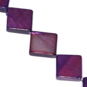 školjke kvadratne 10 x 10 mm, vijola, 1 niz-40 cm