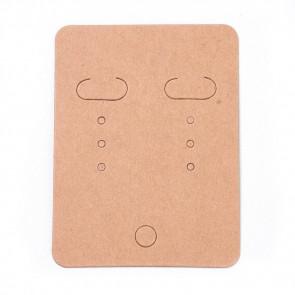 kartonček za uhane 67x50 mm, naravne b., 1 kos
