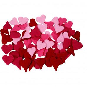 srce iz filca 30-40 mm, mix, 1 kos