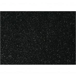 filc debeline 1 mm, črni z bleščicami, A4 21x30 cm, 1 kos