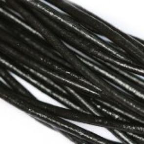 usnjena vrvica 2 mm, črna, 1 m