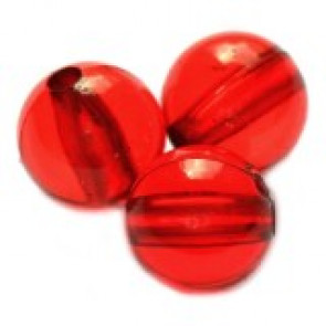plastične perle, okrogle 6 mm, rdeče, 50 gr