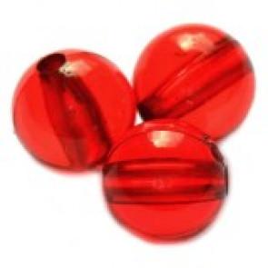 plastične perle, okrogle 8 mm, rdeče, 50 gr