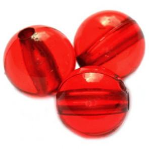plastične perle, okrogle 12 mm, rdeče, 50 gr