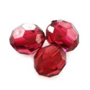 """plastične perle, """"nepravilno"""" okrogle 6 mm, rdeče, 50 gr"""