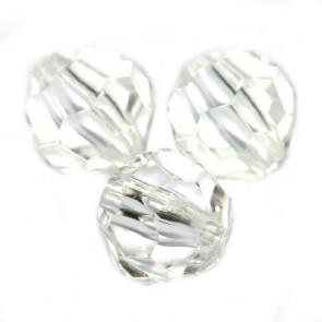 "plastične perle, ""nepravilno"" okrogle 8 mm, prozorne, 50 gr"