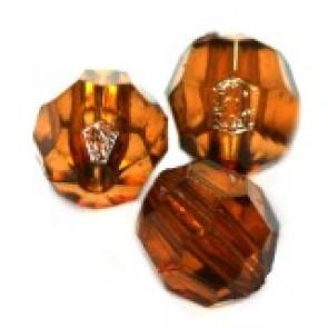 """plastične perle, """"nepravilno"""" okrogle 8 mm, rjave, 50 gr"""