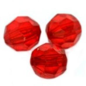 """plastične perle, """"nepravilno"""" okrogle 10 mm, rdeče, 50 gr"""
