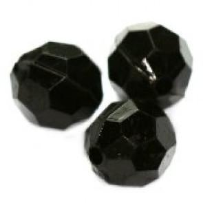 """plastične perle, """"nepravilno"""" okrogle 10 mm, črne, 50 gr"""