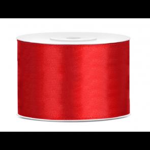 satenast trak, rdeč, širina: 50 mm, dolžina: 25 m, 1 kos