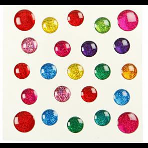 nalepke, krogci, 7-11 mm, 1 pola (24 nalepk)
