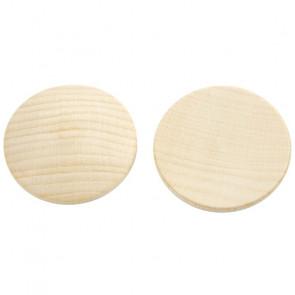 lesena kapljica 48 mm - rahlo izbočena, naravna, 1 kos