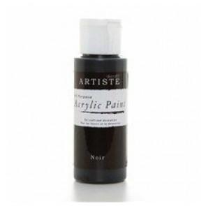 akrilna barva na vodni osnovi, črna, primerna za uporabo s polimerno maso, 59 ml, 1 kos