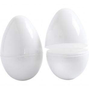 jajca 8,8 cm, pvc, bela, za odpreti, 1 kos