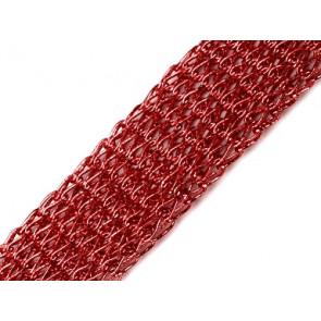 cev za nakit, 20 mm, rdeča, 1 m