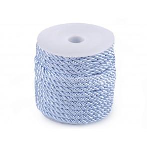 prepletena vrvica, 5 mm, svetlo modre b., 1 m