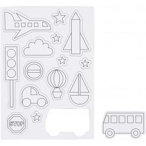 magneti za barvanje, 14,85 x 21 cm, prevozna sredstva, 1  kos