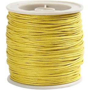 bombažna vrvica 1 mm, rumena, dolžina: 40 m