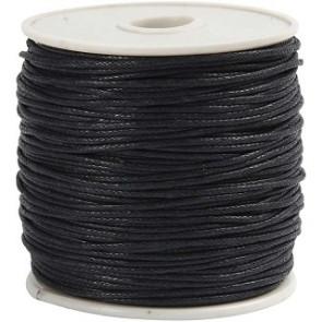 bombažna vrvica 1 mm, črna, dolžina: 20 m