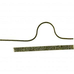 alu barvna žica za oblikovanje - ploščata, širina: 3.5 mm, debelina: 0.5 mm, zelena, 4.5 m