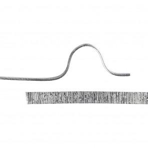 alu barvna žica za oblikovanje - ploščata, širina: 3.5 mm, debelina: 0.5 mm, srebrne b., 4.5 m