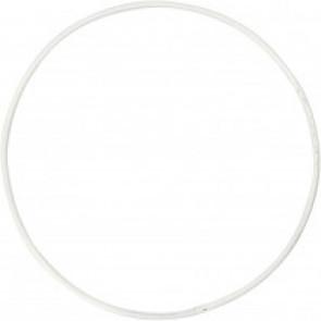 obroč iz kovinske žice, zunanji premer: 10 cm, debelina: 2 mm, bela b., 1 kos