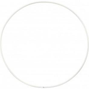 obroč iz kovinske žice, zunanji premer: 15 cm, debelina: 2 mm, bela b., 1 kos