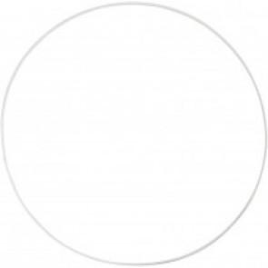obroč iz kovinske žice, zunanji premer: 30 cm, debelina: 3 mm, bela b., 1 kos