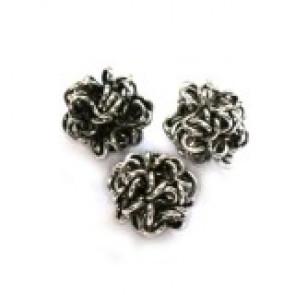 dekorativne perle, kovinske, 6 mm, 1 kos