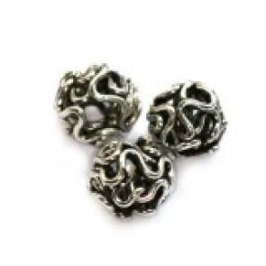 dekorativne perle kovinske 6 mm, 1 kos