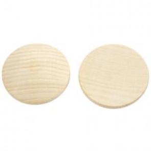 lesena kapljica 38 mm - rahlo izbočena, naravna, 1 kos