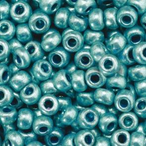 EFCO steklene perle 3,5 mm, turkizne, kovinske barve, 17 g