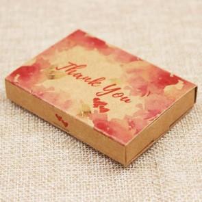 """darilna embalaža z kartončkom za nakit, napis """"Thank You"""", 7,3x5,4x1,2 cm, naravna b., 1 kos"""