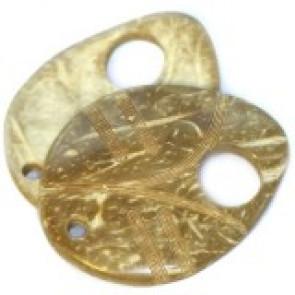 kokos perle, list 5 cm, naravne, 1 kos