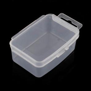 plastična posoda za perle 8.5x5.5x3 cm, prozorna, 1 kos