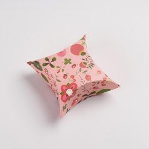 darilna embalaža za nakit z vzorcem cvetlic, 8.4x8.3x4 cm, 1 kos