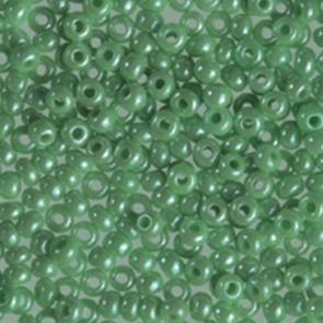 EFCO steklene perle 2,6 mm, svetlo zelene, opalne, 17 g